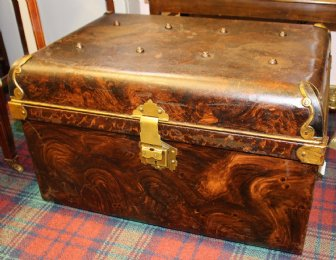 19th cent Tin Trunk - SOLD
