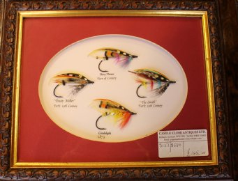 Framed Fishing Flies - SOLD
