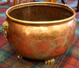 Large Early 19th cent Copper Pot