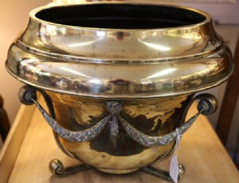 Large Victorian Brass Flower Pot