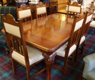 Mahogany Dining Table & Chairs