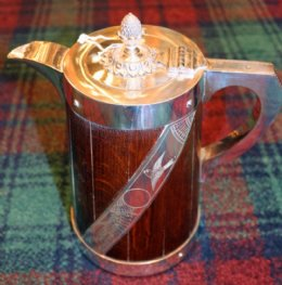Oak & Silver Plated Wine Jug