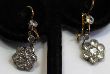 Old Cut Diamond Eardrops