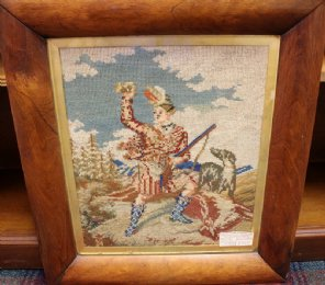 Rosewood Framed Tapestry of Highlander