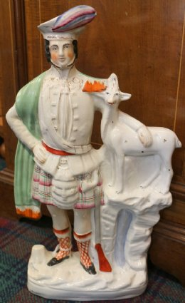 19th cent Pottery Figure of Highlander