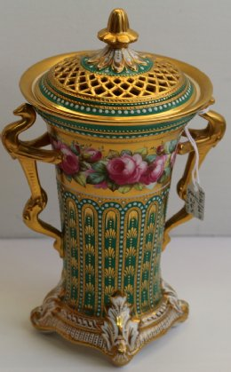 Copeland Spode Jewelled Porcelain Jar - C1890