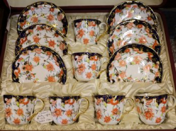Crown Derby Coffee Set
