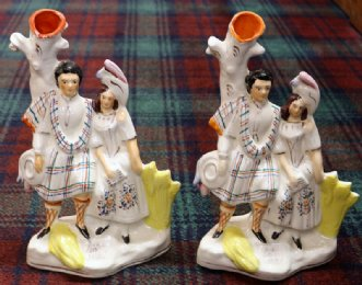 "Staffordshire Figures ""Burns and His Mary"""
