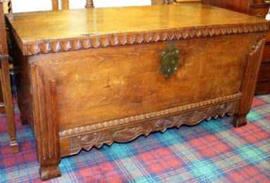 19th cent Elm Coffer - SOLD