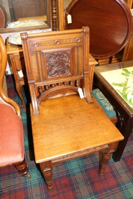19th cent Oak Hall Chair