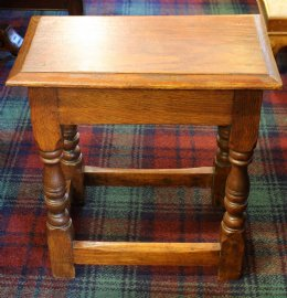 19th cent Oak Joint Stool
