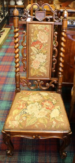 19th cent Rosewood Hall Chair