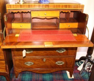 19th cent Secretaire Chest