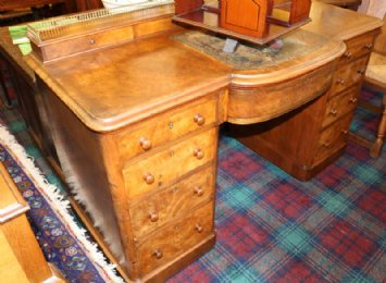 19th cent Walnut Desk
