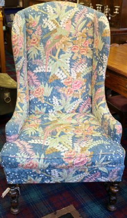 19th cent Wing Chair