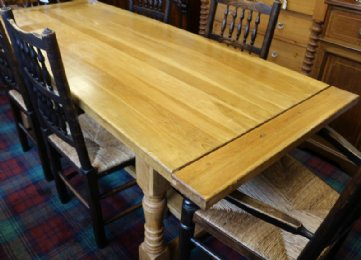 20th cent Oak Kitchen Table