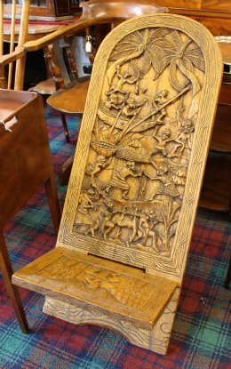 Carved African Chair - SOLD