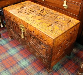 Carved Eastern Camphorwood Trunk