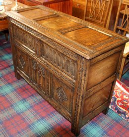 Carved Oak Coffer