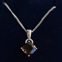 9ct Gold Pendant with Smoky Quartz