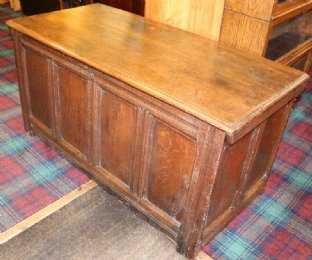 Early 19th cent Oak Coffer