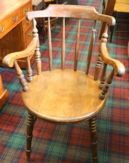 Early 20th cent Beech Armchair - SOLD