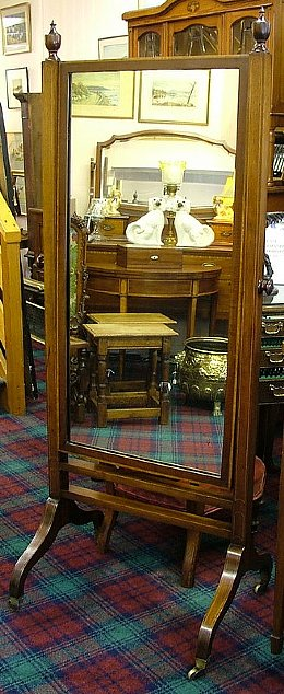 Edwardian Cheval Mirror