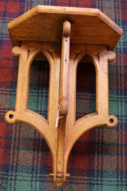 Gothic Style Oak Shelf Bracket