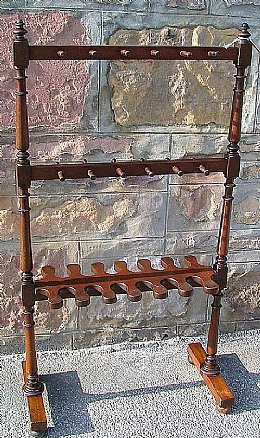 Victorian Mahogany Hall Stand / Boot Rack