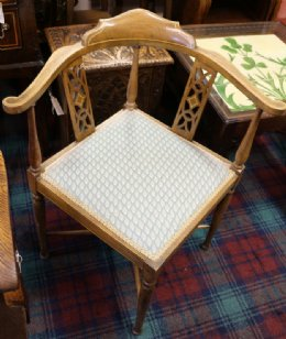 Inlaid Corner Chair