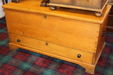 Large Pine Kist with Drawer - SOLD