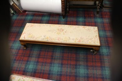Long Low Tapestry Footstool
