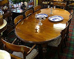 Mahogany Dining Table with 8 Chairs
