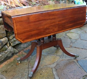 Mahogany Drop Leaf Table with drawer