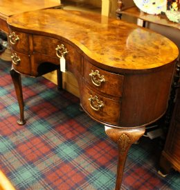 Mahogany Kidney Shaped Desk/Dressing Table