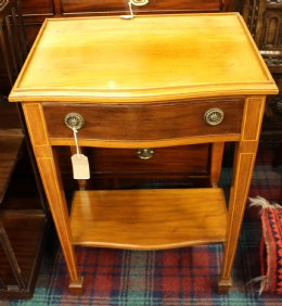 Mahogany Side Table with Drawer