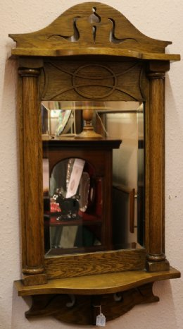 "Oak ""Arts & Crafts"" Mirror"