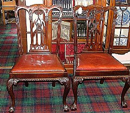 Pair of 19th cent Mahogany Chairs