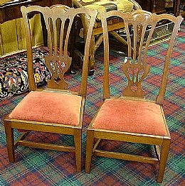 Pair of Chippendale Style Childs Chairs