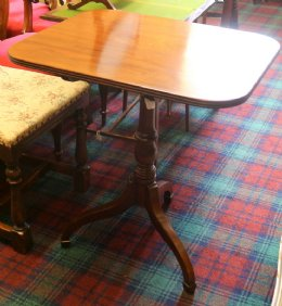 Rectangular Mahogany Tip-Up Table