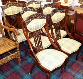 Set of 6 Art Nouveau Chairs