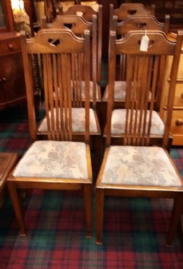 Set of 6 Oak Dining Chairs - SOLD
