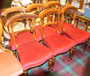 Set of 6 Victorian Rosewood Dining Chairs - SOLD