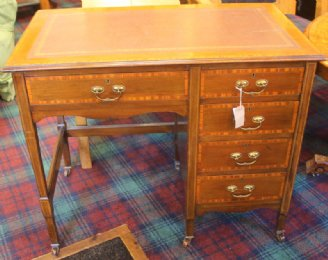 Single Pedestal Edwardian Desk - SOLD