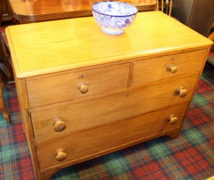 Stripped Pine Victorian Chest