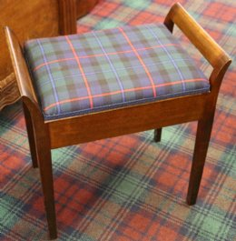 Tartan covered Piano Stool - SOLD
