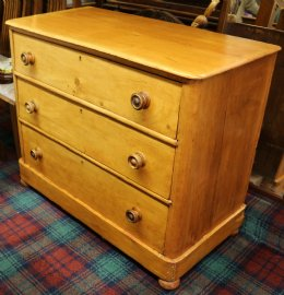 Victorian Stripped Pine Chest