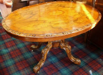 Victorian Walnut Breakfast Table