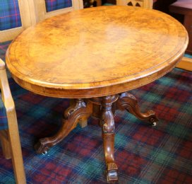 Victorian Walnut Oval Table