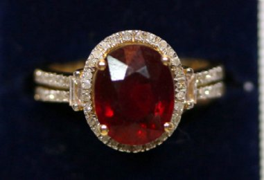 14KGold,Ruby & Diamond Ring